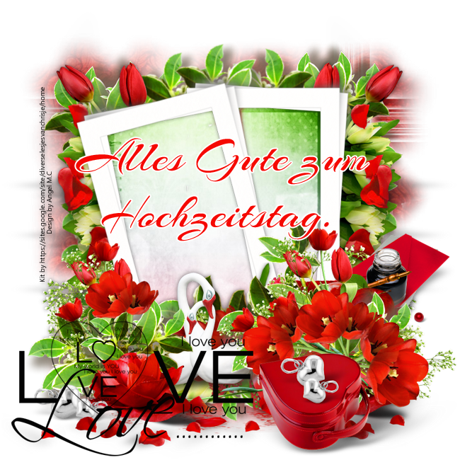 Hochzeitstag rote Blumen