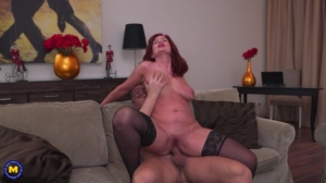 Andi James – Hot Redhead MILF is getting a creampie (08.03.2019)