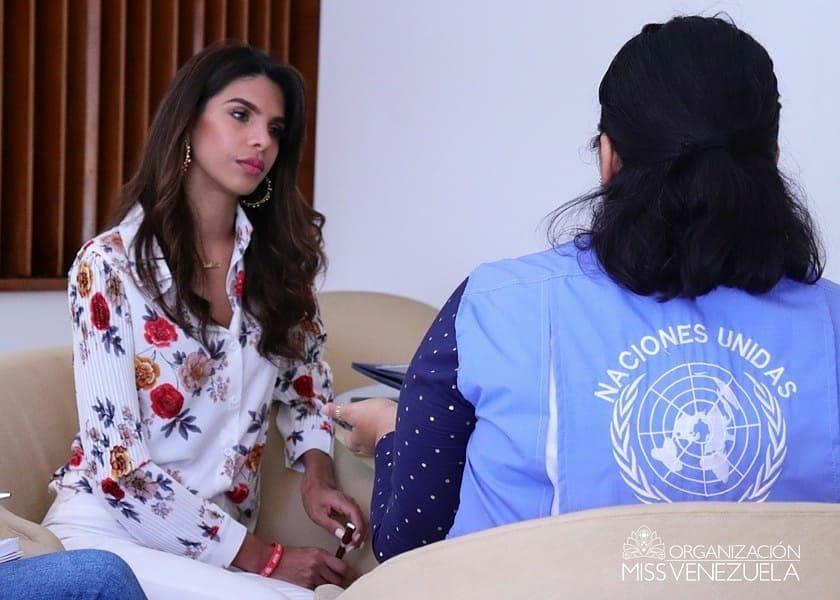 Miss Venezuela prepara su proyecto social rumbo a Miss Mundo 2019 capacitándose junto al equipo de la ONU Dlywnjar