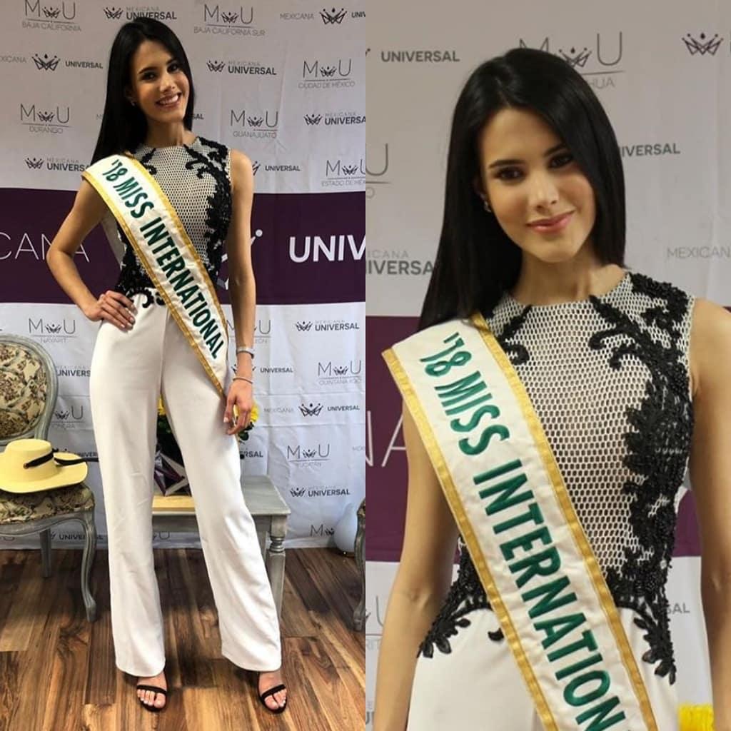 miss international 2018 visitando mexico para final de mexicana universal 2019. 4etebcto