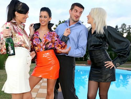 Uma, Yenna, Lolly, Samantha Johnson - Keeping The Piss Party Plowing Along By The Pool (HD)