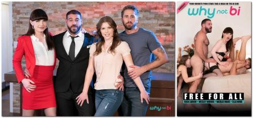 Natalie Mars, Ella Nova, Ricky Larkin, Wesley Woods - Free For All (1.78 GB)