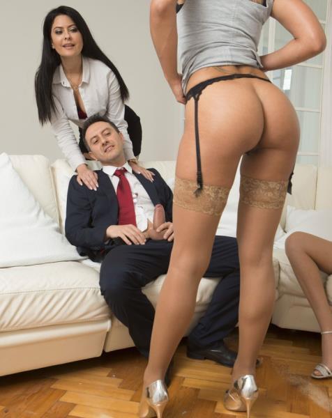 Rose Valerie, Amber Jayne, Mariska - His wife offers him 2 slutty girls