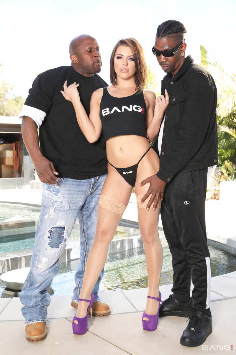 Adriana Chechik - Gets Her Pussy And Asshole Stuffed By Two Big Black Cocks