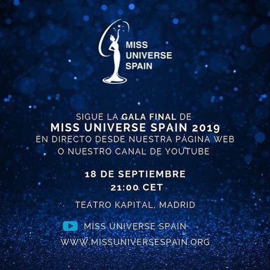 Transmisión En Vivo de Miss Universe Spain 2019 Ybny2i39