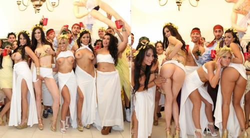 Luna Star, Kendall Karson, Jamie Valentine - Pornstar toga party orgy (2019/DormInvasion.com/BangBros.com/HD)